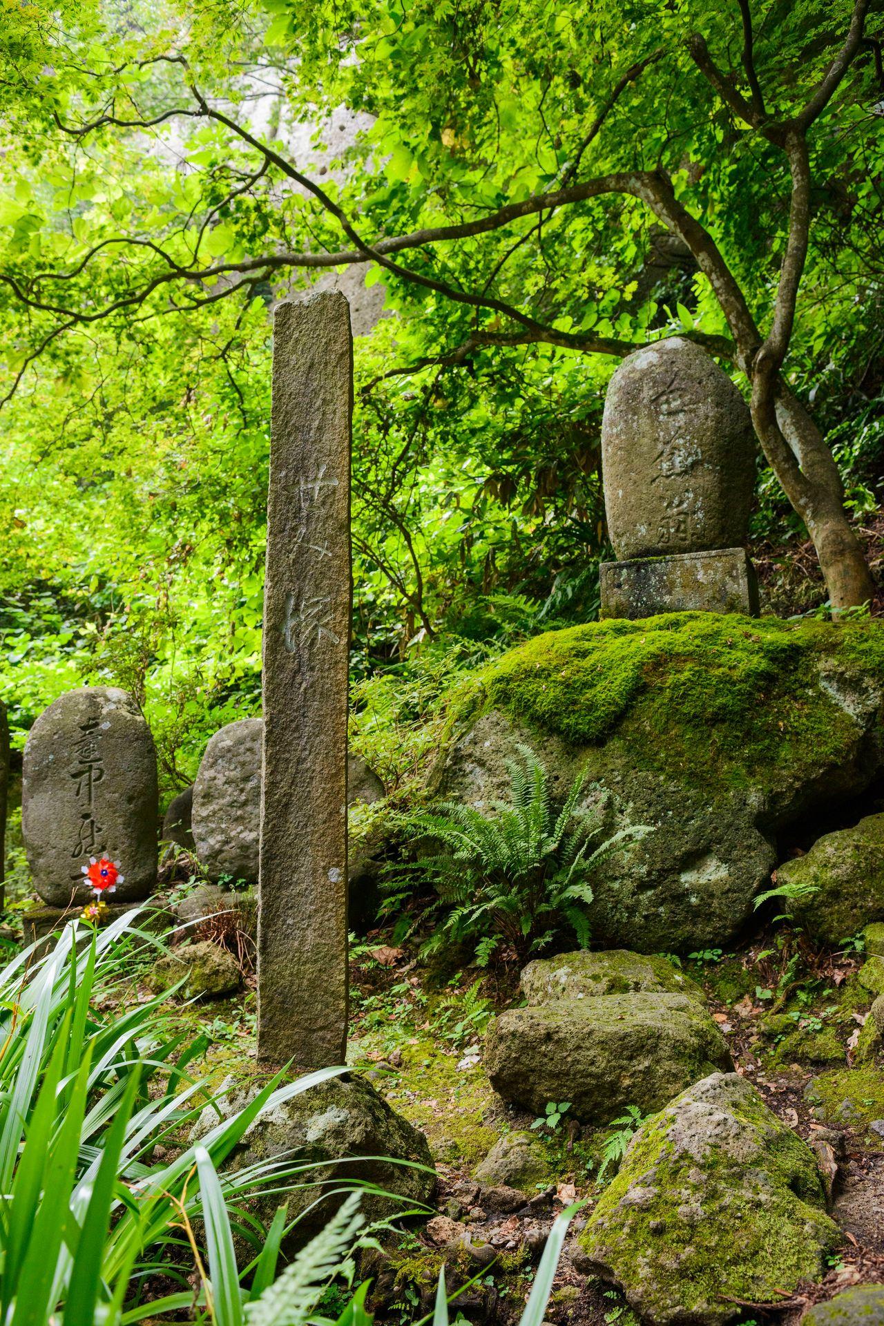 芭蕉の足跡が垣間見えるせみ塚 写真提供:山形県観光物産協会