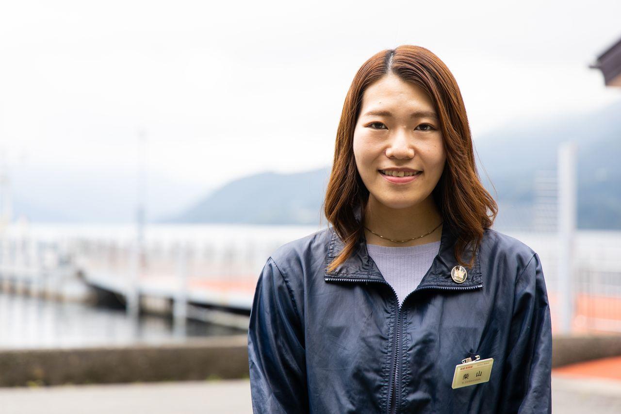 箱根海賊船の柴山さん。台風によって芦ノ湖の水も上昇し、元箱根港などは浸水被害を受けたが、運休は1週間ほどで済んだという