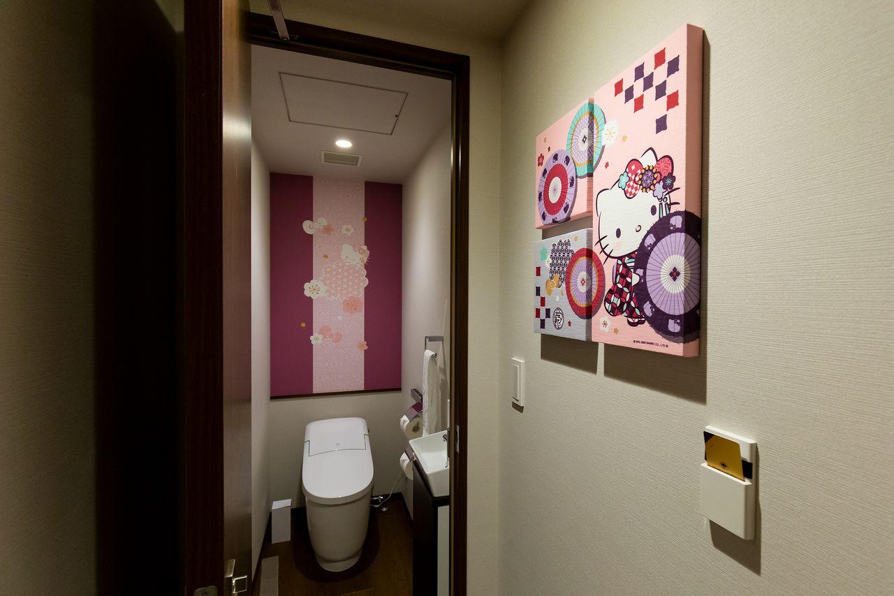 トイレの中まで大正モダンの雰囲気
