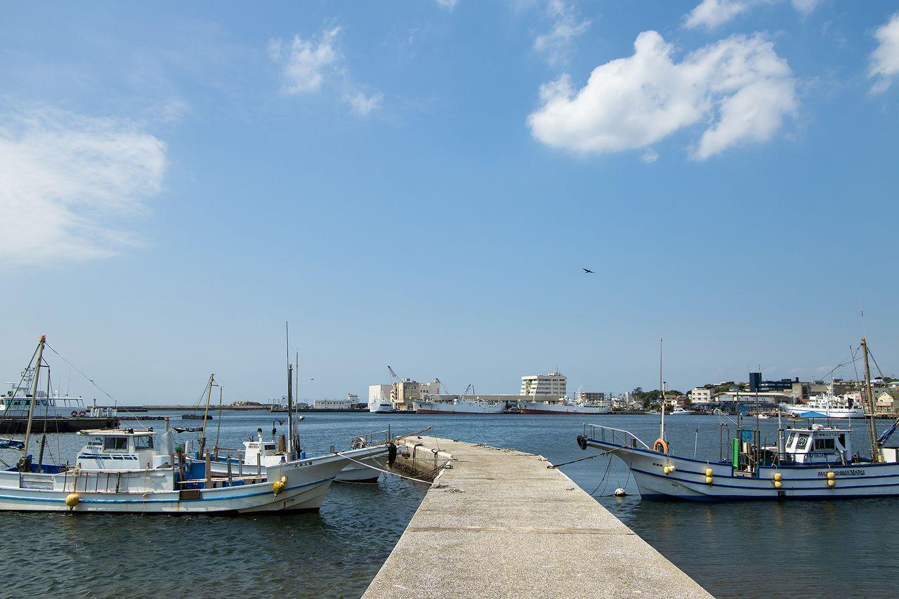 城ケ島から三崎港を望む
