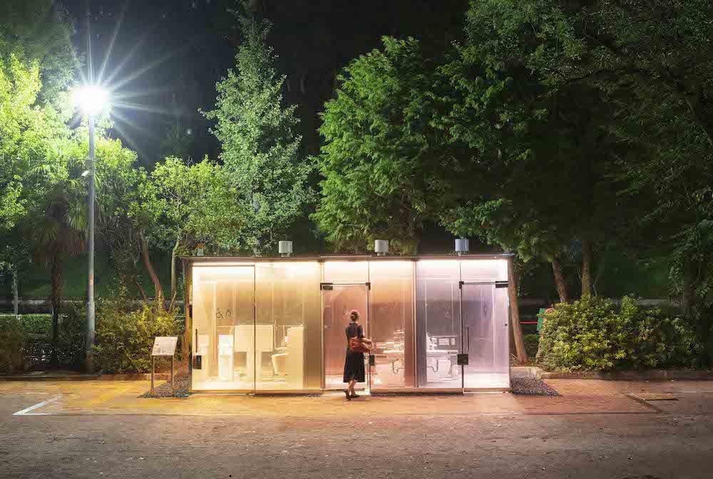 夜は美しい光を放ち、公園の防犯対策にも一役買う 写真提供:日本財団