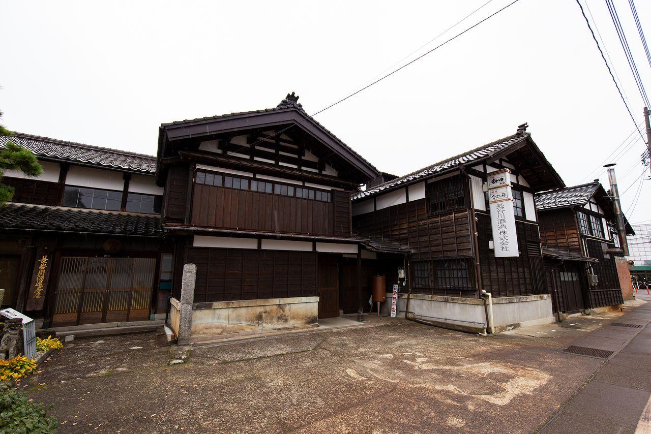 「越後雪紅梅」で知られる長谷川酒造の主屋(登録有形文化財)は、1886(明治19)年に建てられたものを大正末期に改修した