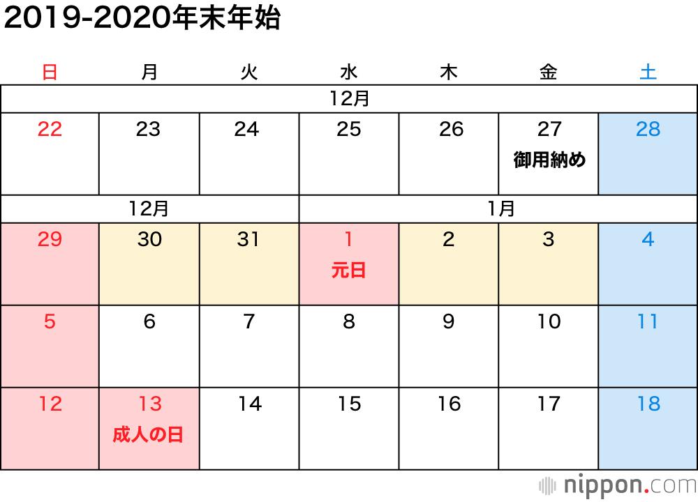 2020 年 お盆 休み