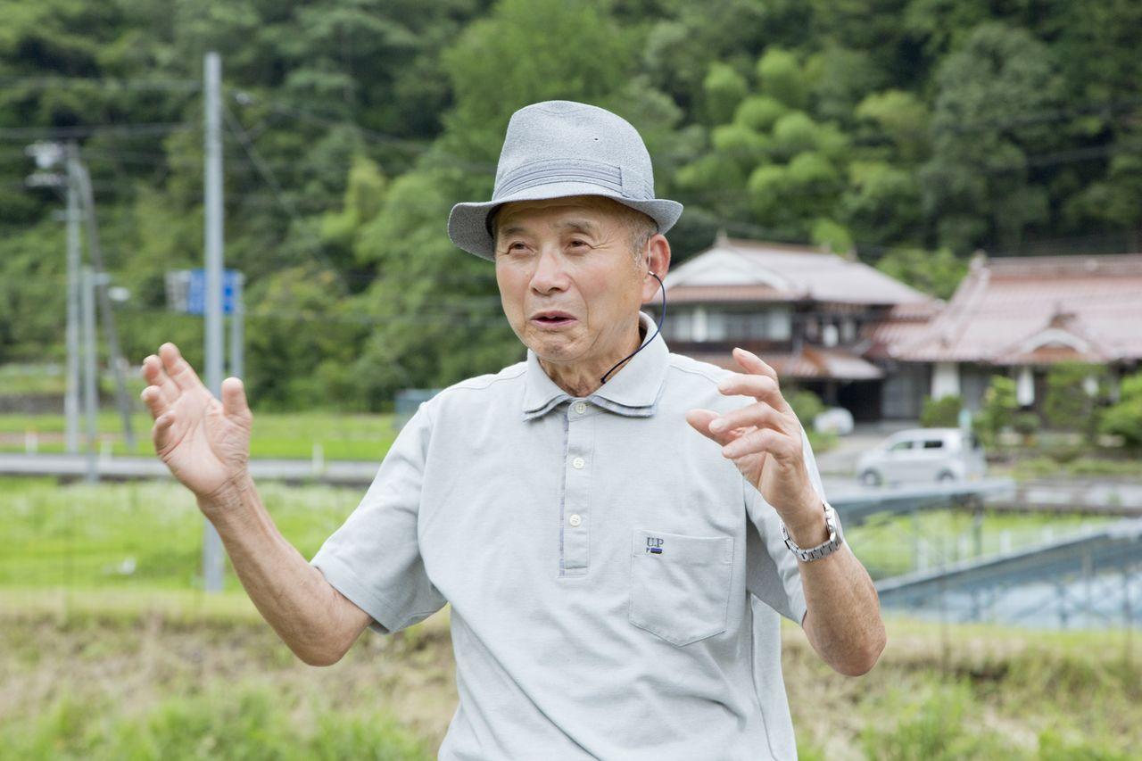 「黒い雨」訴訟の原告の一人、本毛稔さん(撮影・堂畝紘子)