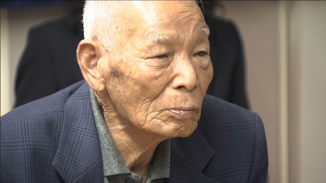 元陸軍一等兵の村上輝夫さん(1920年生)。カウラ事件70周年、75周年の記念行事に参加した ©瀬戸内海放送