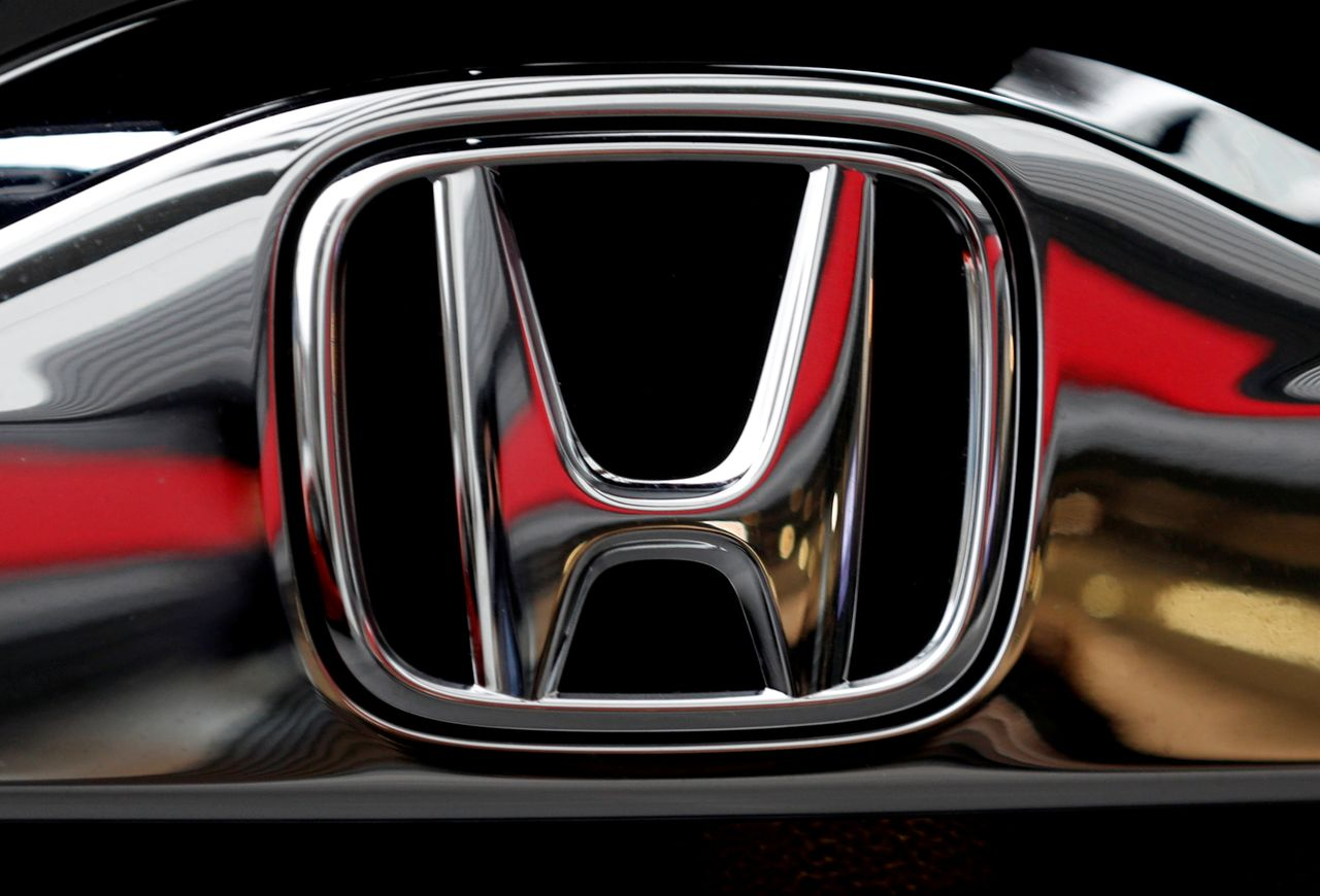 FILE PHOTO: Honda's logo on its Modulo model is pictured at its showroom at its headquarters in Tokyo, Japan, February 19, 2019. REUTERS/Kim Kyung-hoon