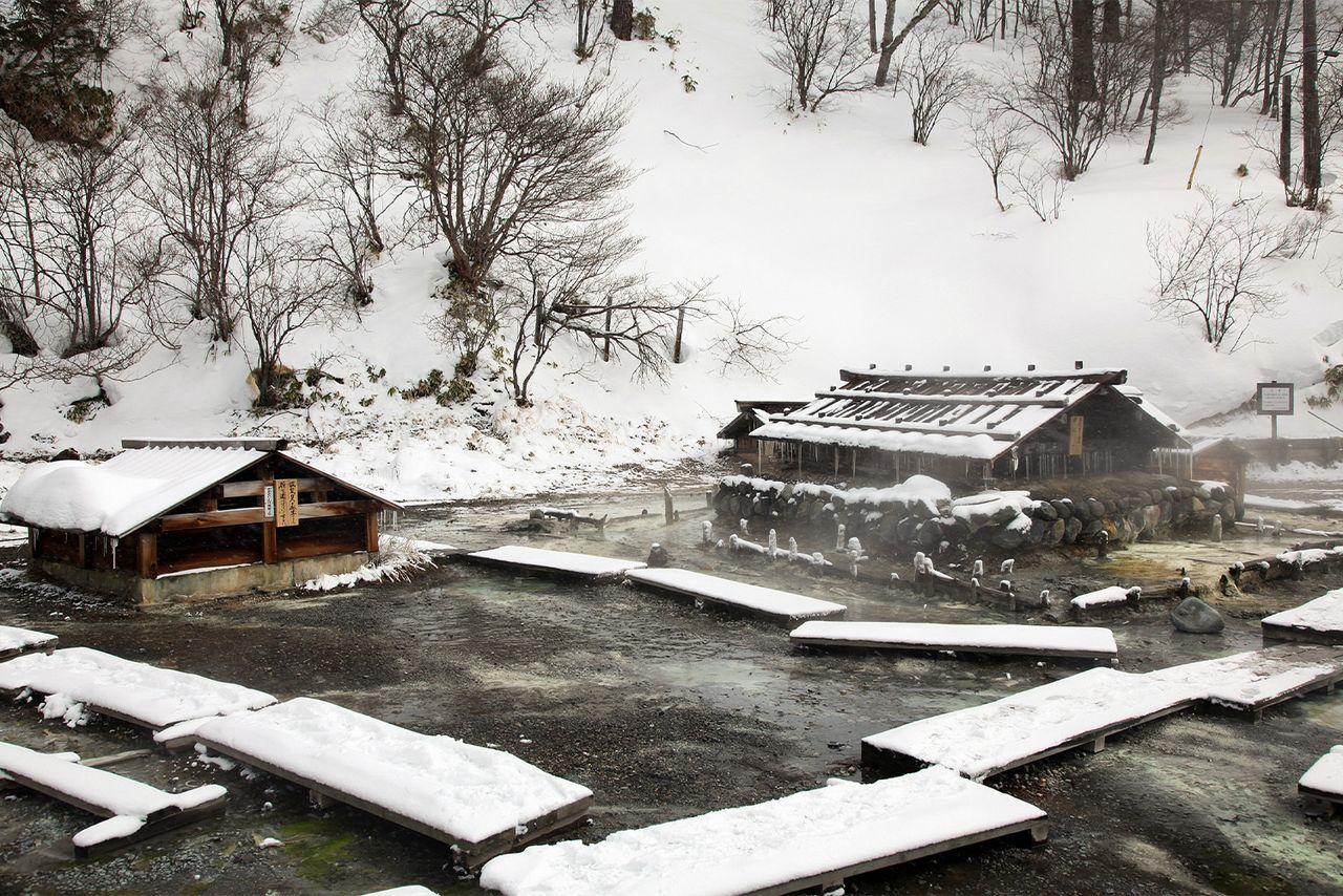 Термальный источник Оку-Никко-юмото онсэн (фотография Ассоциации туризма и продукции префектуры Тотиги)