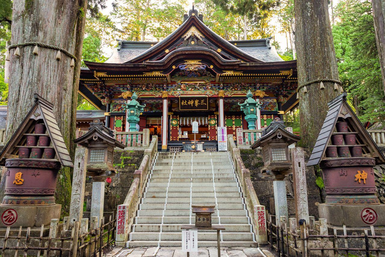 Святилище Мицуминэ, которое становится всё более популярным местом для поездок в регионе Канто (фотография Ассоциации производства и туризма префектуры Сайтама)
