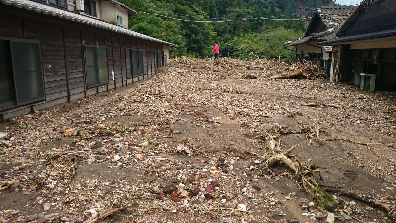 Последствия ливня в июне 2016 года. Большая часть территории была погребена под оползнями