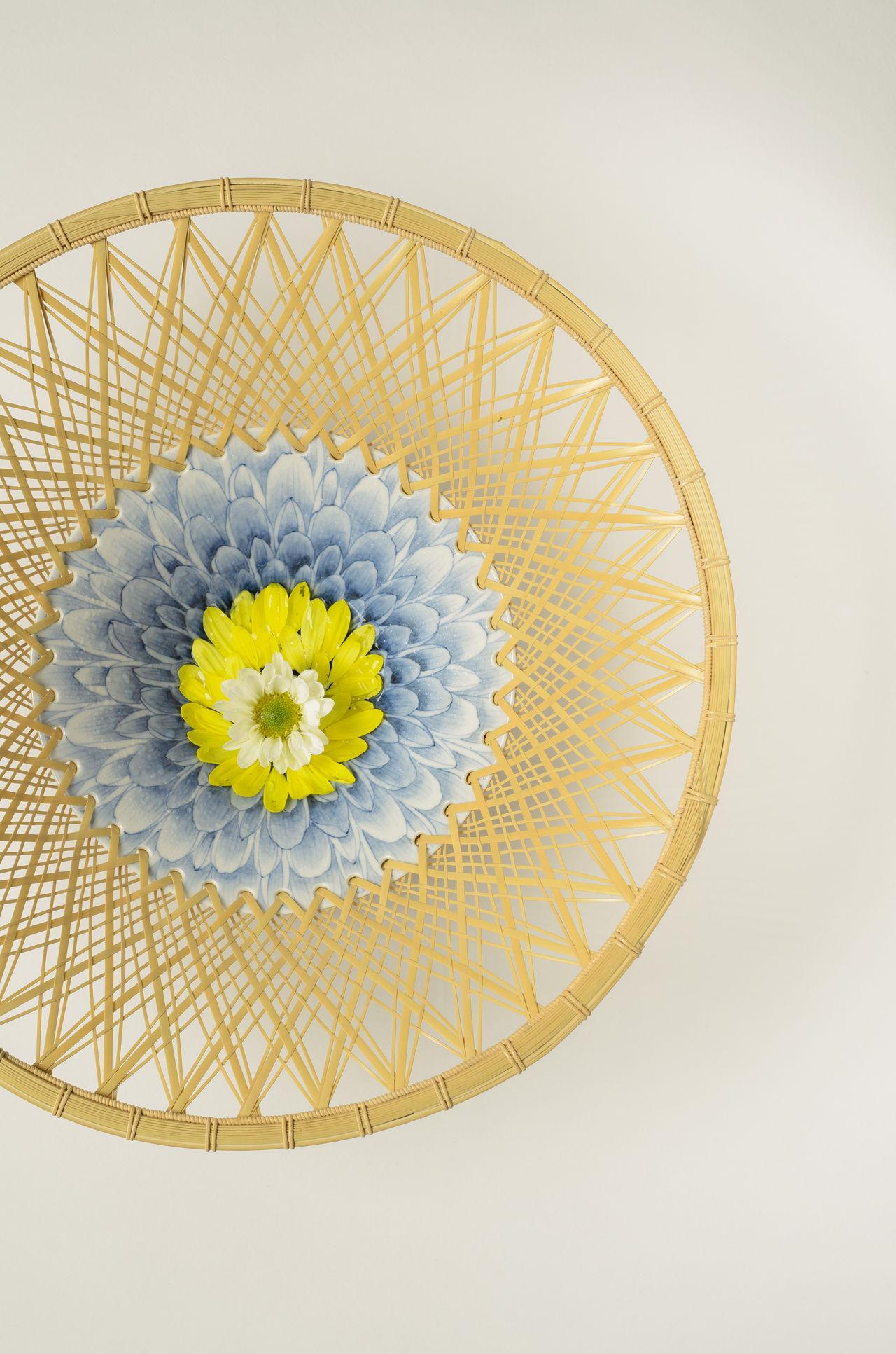 «Хризантема» из серии «Четыре изысканных растения» (Сикунси), которая изображает цветущую сливу, орхидею, бамбук и хризантему. Серия создана в сотрудничестве с Асано Юкико (© Хаясигути Тэцуя)