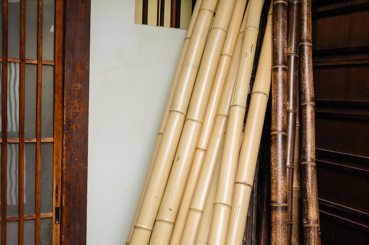 Разные разновидности бамбука в мастерской Огуры