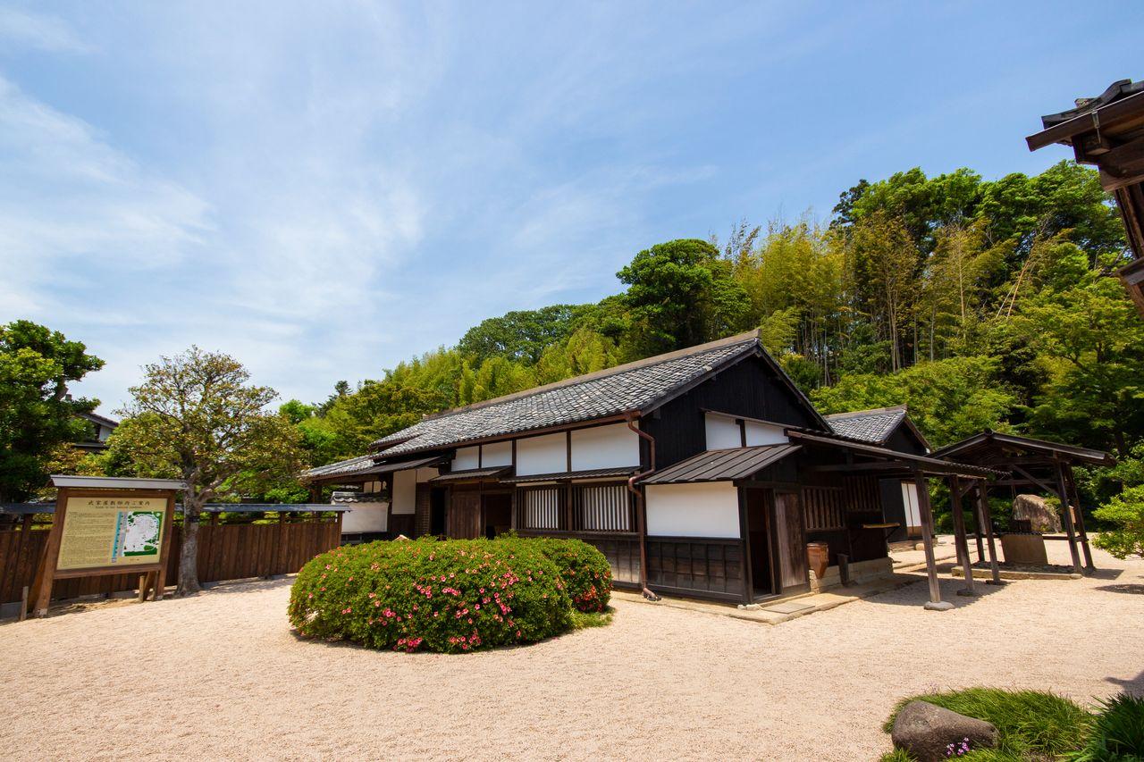 Самурайская усадьба Сиоми Кохэя была недавно восстановлена по планам эпохи Мэйдзи
