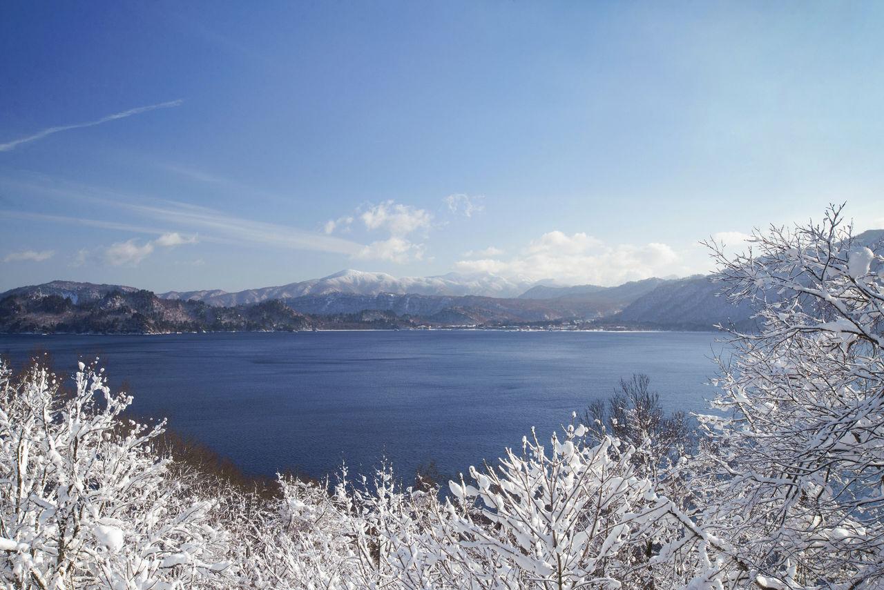 Озеро Товада зимой