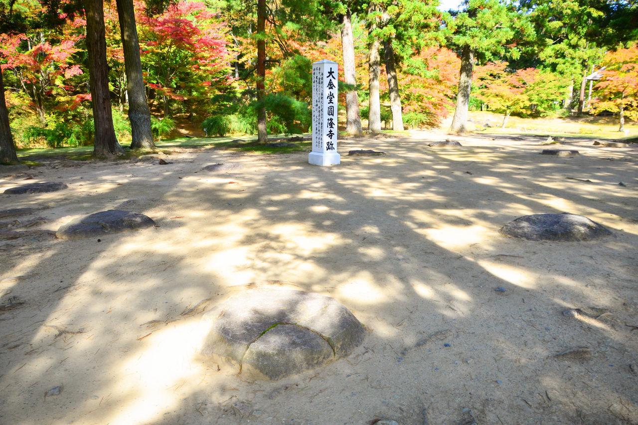 Место, где находился построенный Мотохирой главный павильон храма, Кондо Энрюдзи