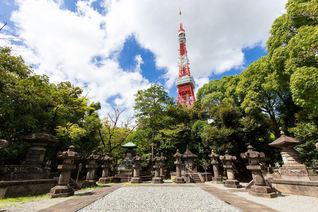 Возле могил шести сёгунов Токугава расположены могилы их жён и других членов семьи