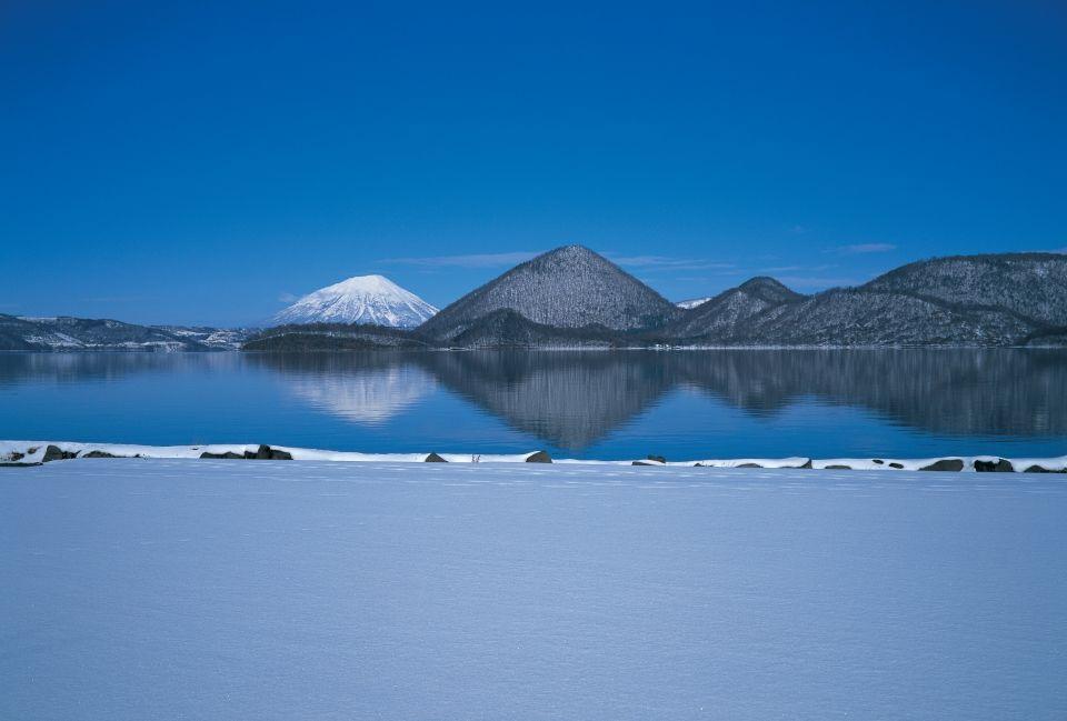 Озеро Тоя зимой (предоставлено муниципалитетом Тояко)