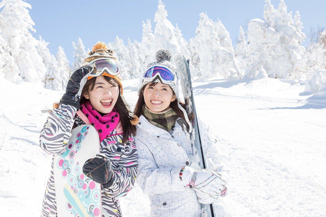 В Японии много хороших мест для горных лыж