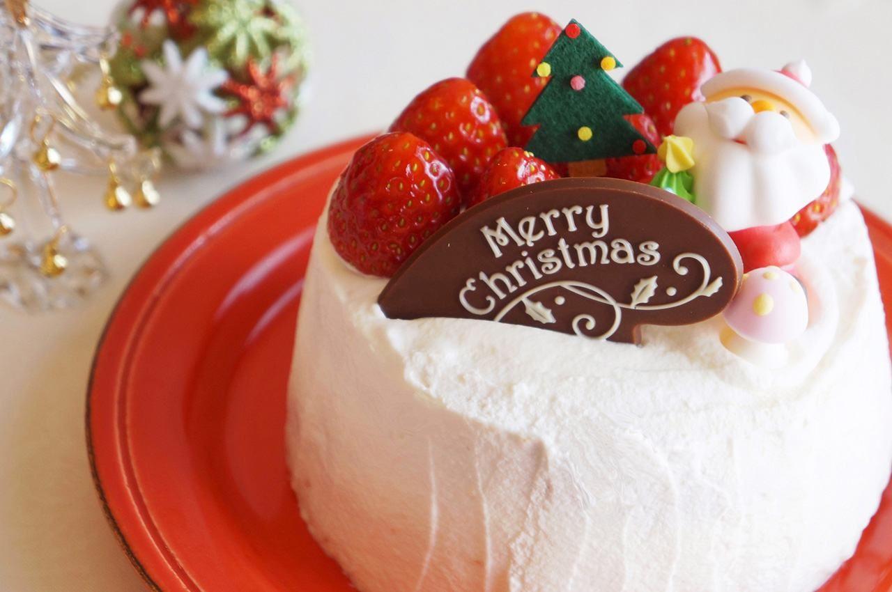 Рождественский торт в японском стиле