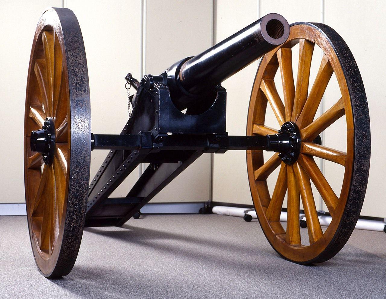 Копия пушки Армстронга в музее истории замка Сага в преф. Сага (предоставлено Историческим музеем замка Сага)