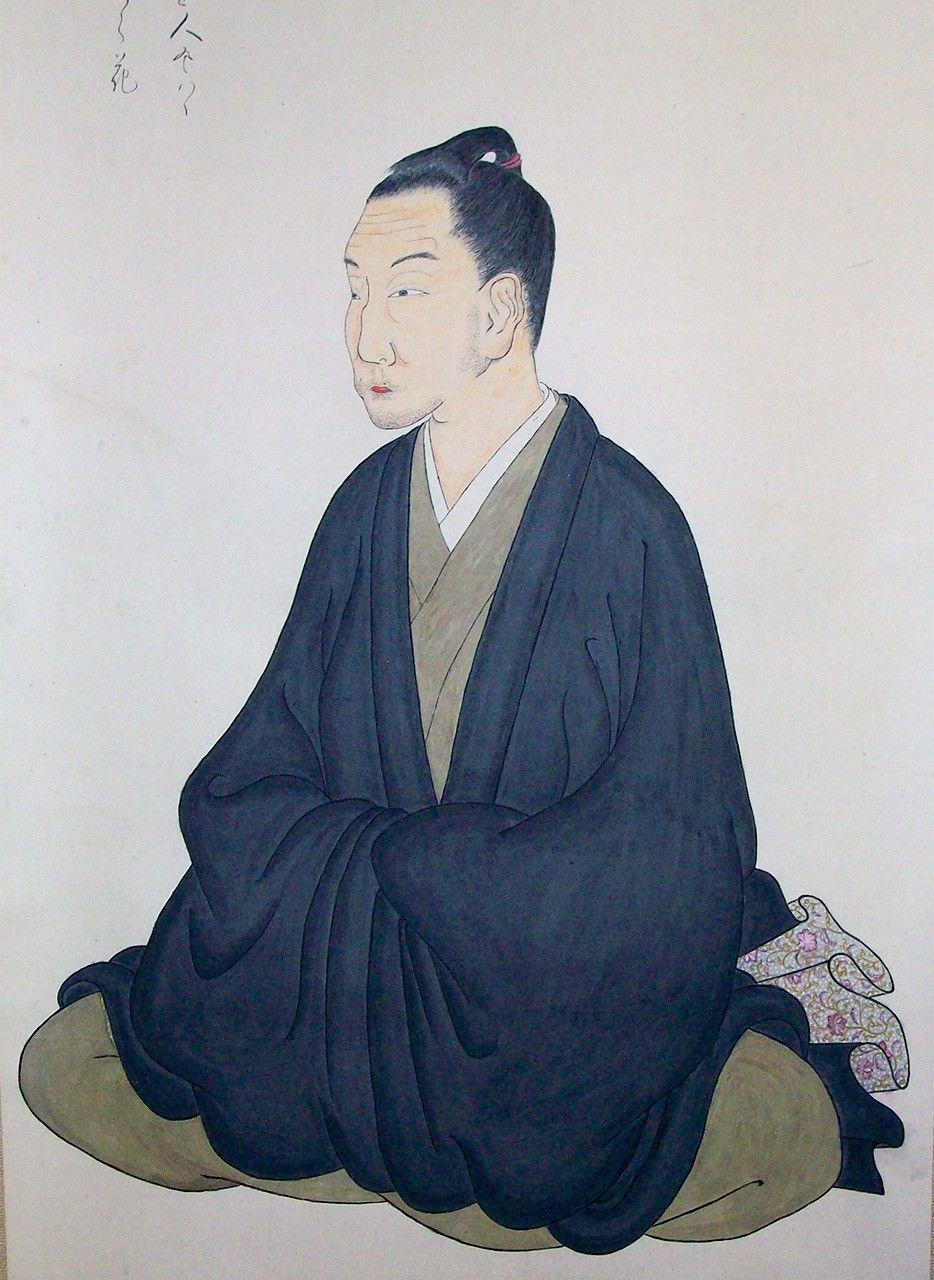 Мотоори Норинага, автопортрет в возрасте 61 года (Музей Мотоори Норинага)