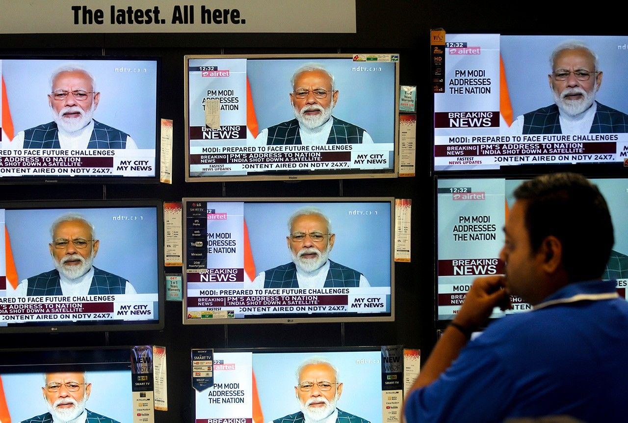 27 марта 2019 года премьер-министр Индии Нарендра Моди официально объявил по телевидению об успешно проведённом испытании по уничтожению ракетой искусственного спутника (Reuters / Aflo)