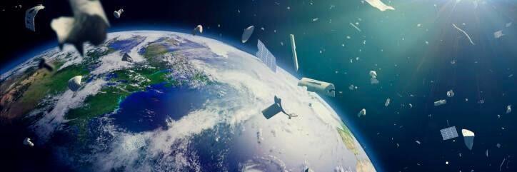 Иллюстрация: космический мусор (© Aflo)