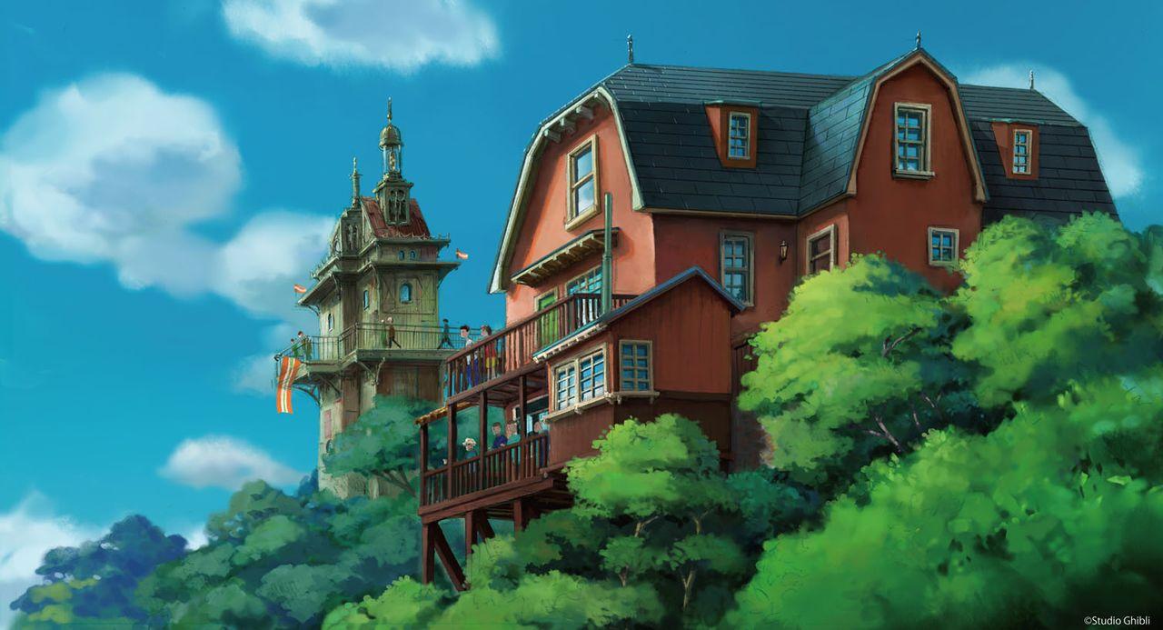 «Холмы молодости» в «Парке Гибли» (проект, ©Studio Ghibli)