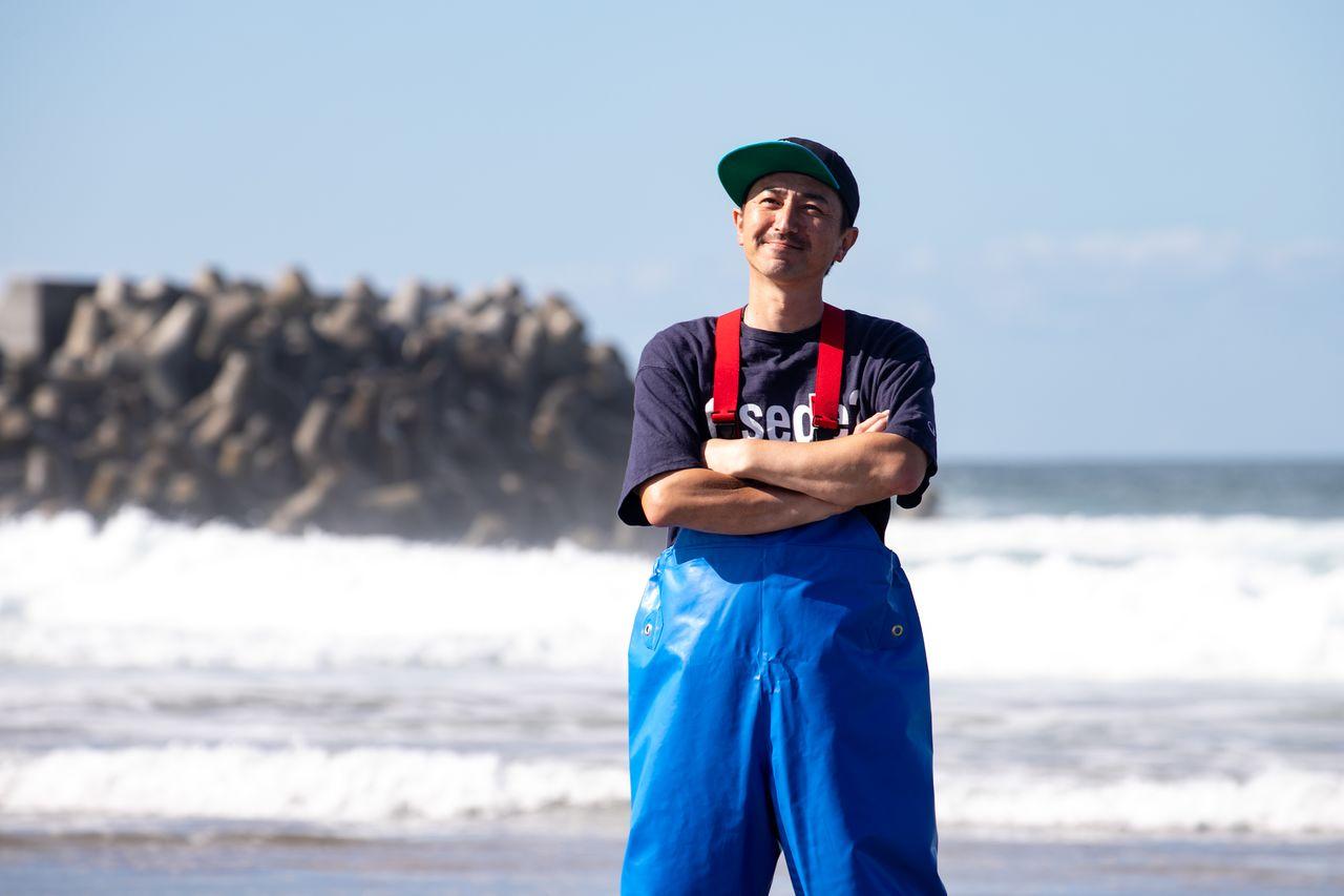 Рыбак Кикути Мотофуми по прозвищу Моттян (фотографию предоставила «Служба вкусных новостей Сомы»)