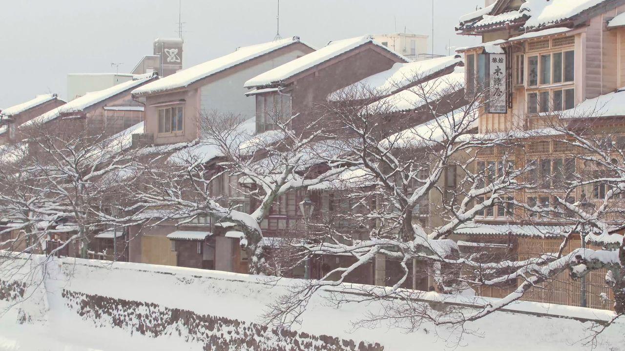 Город Канадзава зимой