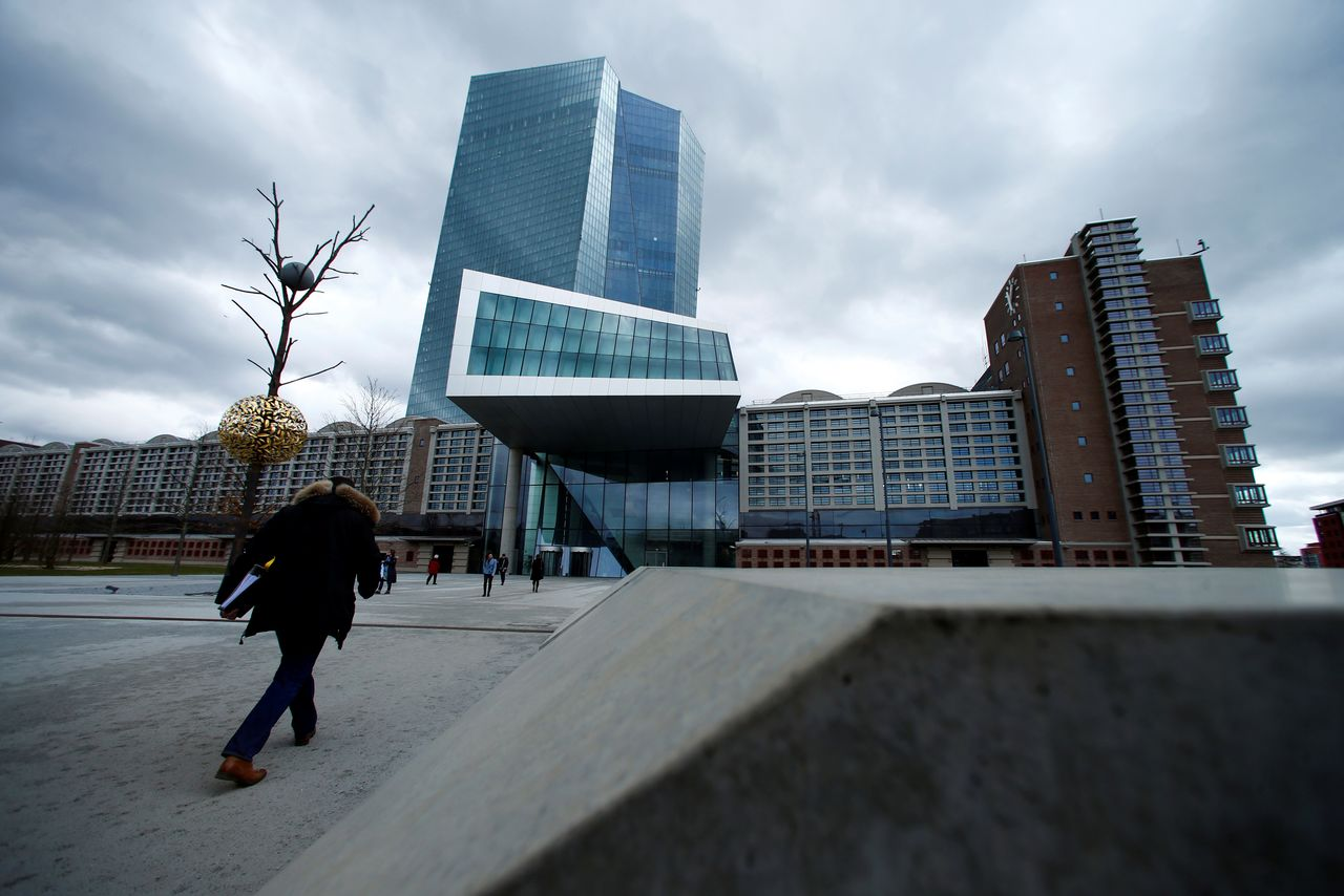 FILE PHOTO: European Central Bank (ECB) headquarters building is seen in Frankfurt, Germany, March 7, 2018. REUTERS/Ralph Orlowski/File Photo